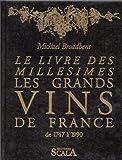 Le livre des millésimes. Les grands vins de France de 1747 à 1990