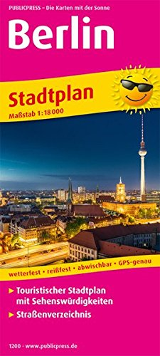 Berlin: Touristischer Stadtplan mit Sehenswürdigkeiten und Straßenverzeichnis. 1:18000 (Stadtplan / SP)