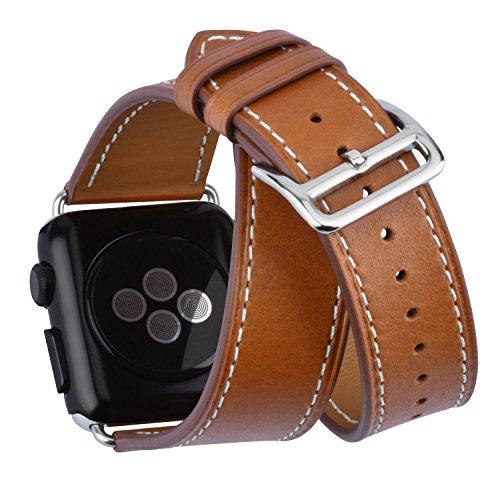 Uhrenarmbänder Uhrenarmbänder Lederarmband Für Die Apple Watch 42mm Uhrenarmband Armband Braun Moderne Techniken