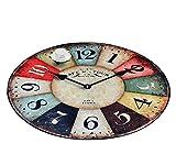 Europa y América Creativo Retro Reloj de Pared Ronda Alfombra Dormitorio Sala de Estar Ronda Alfombra Escritorio Ordenador Silla Cojín JSFQ (Color : #4, Tamaño : Diameter 150cm)
