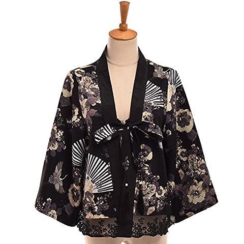 GRACEART Femmes Court Kimono Peignoir