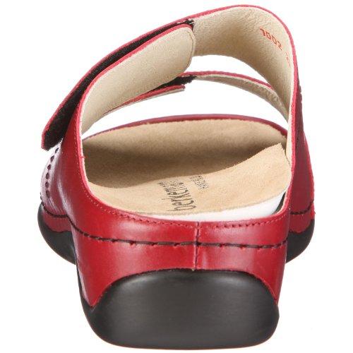 Berkemann Melbourne Daria 0, Chaussures femme - Blanc - (weiß 101) - Rouge - Rot (weinrot 277)