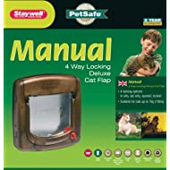 PetSafe Staywell Deluxe Manual 4-Way Locking Cat Flap - Woodgrain