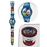 STAR LICENSING Uhr TOPOLINO Mickey Maus Disney ANALOG Handgelenk KONF. cm 24 - 50581CELESTE