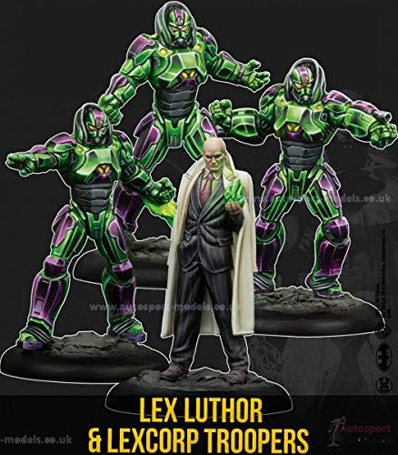 Juego de miniaturas de Batman – Máscara Negra 35 mm Lex Luthor & Lexcorp Troopers