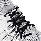 Cordones elásticos para zapatos sin atar, talla única, para adultos y niños (2 pares), Negro (Negro), X-Large