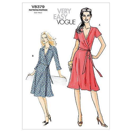 Vogue McCalls, Patron de Couture pour Robe Femme 8379 Misura BB (38, 40, 42, 44)