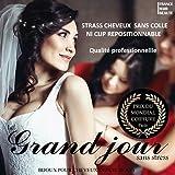 12 STRASS CHEVEUX CRISTAL BLANCS AVEC OFFRE DE STRASS GRATUITS EN PLUS. SIMPLE ET...
