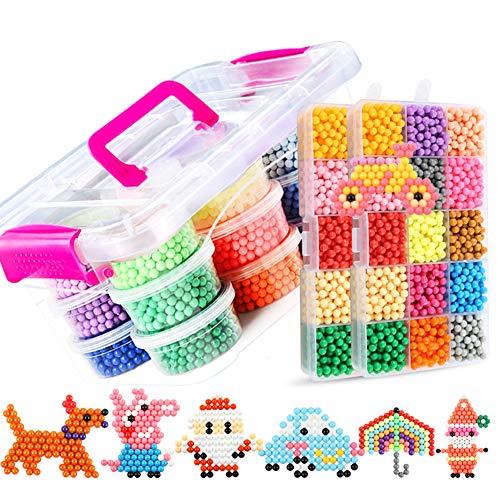 EisEyen - Set di Ricarica per Bambini, 30 Colori, 8400 Perline