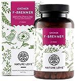 NATURE LOVE Grüner F-Brenner mit grünem Kaffeeextrakt, Guarana & grünem Tee. 120 Kapseln....