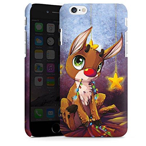 Apple iPhone X Silikon Hülle Case Schutzhülle Rentier Rudolf Weihnachten Premium Case matt