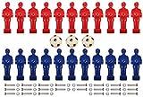 KMH, 22 Kickerfiguren / Tischfußballfiguren (inkl. 3 Bällen und Schraubensatz - Geeignet für 13 mm Stangen) (#800157)
