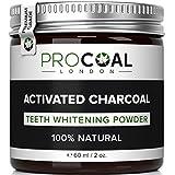 procoal carbón activado polvo de blanqueamiento dientes 60ml (Premium Grade)