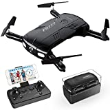 RC Quadrocopter Drohne mit 2.0MP Kamera Live Video 2 Batterien Klappbare Arms Pocket Mini Drohne f�r Anf�nger 2.4G 6-Achsen Headless-Modus RTF Helikopter Bild
