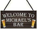 Rot Ocean, Willkommen-Schild mit Bier-Motiv für Männerhöhlen, personalisierbar