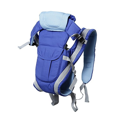 GTC Adjustable Hands-Free 4-in-1 Baby Carrier Bag , Carry Bag , Front Carry Bag with Comfortable Head Support & Buckle Straps (Blue)