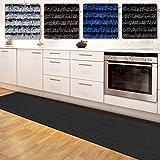Floori Küchenläufer – 9 Größen wählbar – 100x250cm – anthrazit - 2
