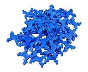 INCASTRO Rígida 014bl-Juegos de construcción rígida Cube L, 60Unidades, Azul