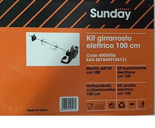 Sunday grill - spiedo / girarrosto elettrico per barbecue sunday grill cm 100 cod. 4008055