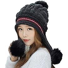 Tukistore Cappello Berretto Donna Inverno Elegante Beanie in Lana a Maglia 792fa04faa54