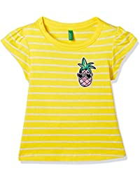 United Colors of Benetton Girl's Striped Regular Fit T-Shirt