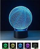 SASA 3D Fantasy 7-Farben Nachtlicht LED Familie Urlaub Geschenke Tischlampe Kinder