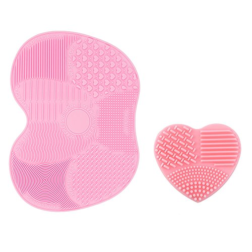 i-dragon-silicon-makeup-brush-cleaning-mat-makeup-brush-cleaner-pad-1-apple-shaped-large-mat-and-1-h