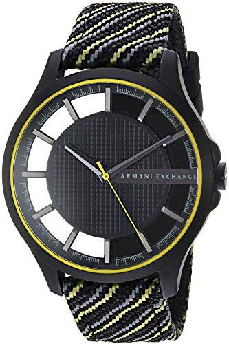 Armani Exchange Herren Analog Quarz Uhr mit Nylon Armband AX2402
