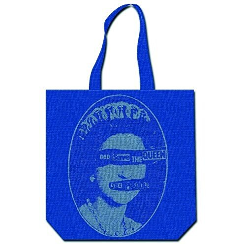 Sex Pistols God Save The Queen Blue Tote Bag 100% Official Licensed Product