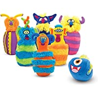 Melissa & Doug 12210 Monster Plush 6-Pin Bowling Game with Carrying Case