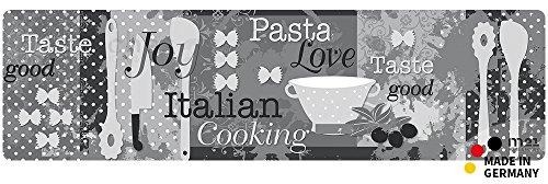 matches21 Küchenläufer Teppichläufer Teppich Läufer Pasta Nudeln Italien 50x180x0,4 cm maschinenwaschbar rutschfest Küchenvorleger