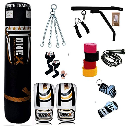 heavy-filled-17-piece-5ft-boxing-punch-bag-set-gloves-bracket-chains-mma-pad