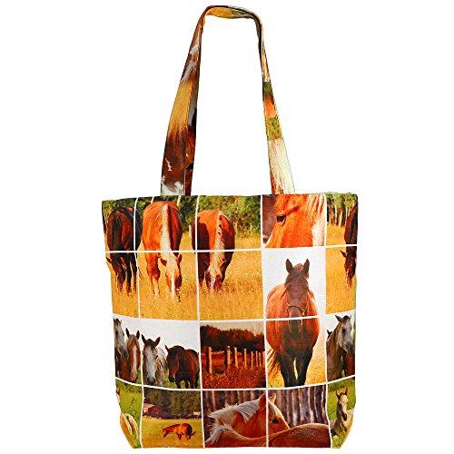 Digital gedruckte Multi Mode-Einkaufstasche - Bunte Faux Silk Taschen-Tasche mit Polysatin Futter Multi-55
