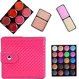 Rawdah 32 colores sombra de ojos maquillaje paleta cosmético sombra de ojos rubor brillo labial en polvo