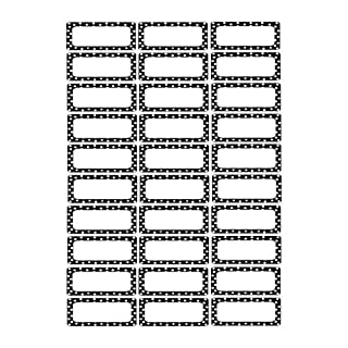 Ashley Productions ASH10080 Black Magnetic Small Nameplates Dots, White, 1 x 2.5 Inches