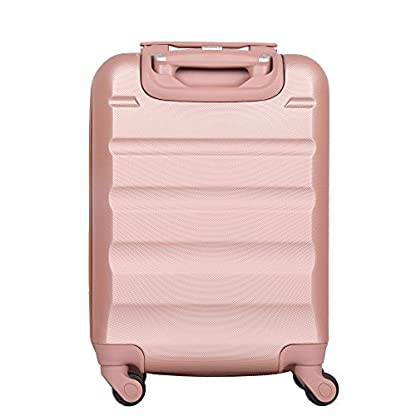 Aerolite – Súper liviano, 3 piezas, equipaje de viaje rígido, maleta de viaje, con 4 ruedas (3 piezas, oro rosa)