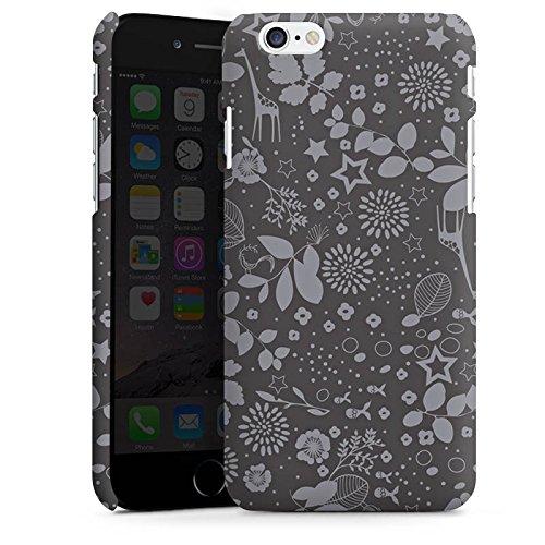 Apple iPhone 5 Housse étui coque protection Girafes Étoiles Gris Cas Premium mat