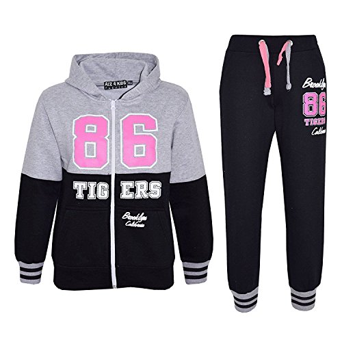 �Kids Girls Boys Tigers 86 Brooklyn Bottom Set California Jogging Suit Joggers New Age 7 -13 Years