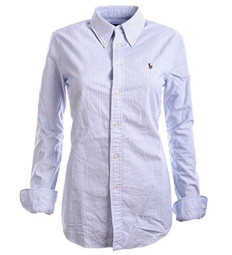 8387e1c17b9403 Ralph Lauren Polo Damen Bluse Business Hemd Damenbluse Hellblau Gestreift  Größe S