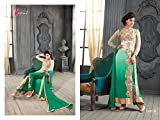 I-Brand Girls' Georgette Achkan Salwar Suit Set (Ibisund114_Green_Free Size)