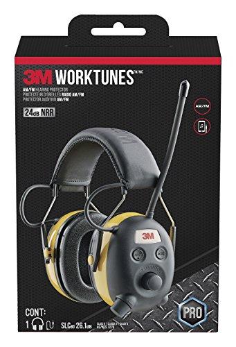 3M Digital WorkTunes Gehörschutz und AM / FM Stereo Radio mit Voice Assist