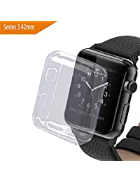 bandmax Apple Watch 3 Funda, 42mm Suave TPU Proteger Completa Case Anti-Arañazos Borrar Espalda para Apple Watch (42mm)