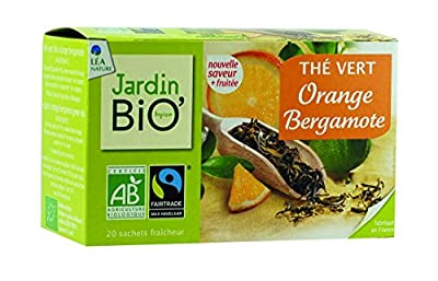Jardin Bio Thé Vert Orange Bergamote 30 g