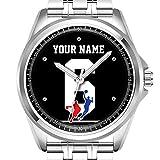 Personalisierte Herrenuhr Mode wasserdicht Uhr Armbanduhr Diamant 385.Customizable Basketball-Trikot-Team colorsu2026