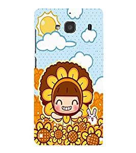 EPICCASE Sunflower girl Mobile Back Case Cover For Mi Redmi 2s (Designer Case)