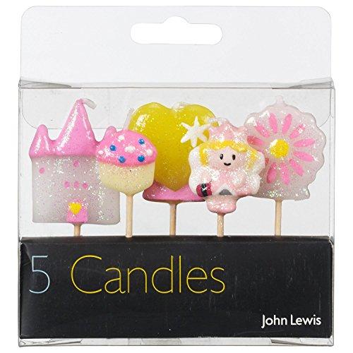 John Lewis Prinzessin Themed Geburtstags-Kerzen 5er Pack (Seife Lewis)