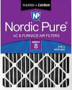 Nordic Pure 12x26/_1//2x2 Exact MERV 8 Pleated AC Furnace Air Filters 4 Pack