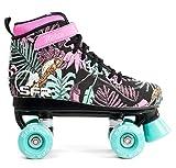 SFR Vision Canvas Rollschuhe Disco Roller Kinder floral floral, 34 -