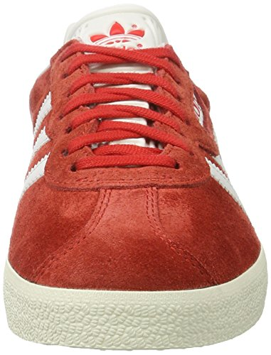 adidas Gazelle Super, Sneakers Basses Homme Rouge (Red/Vintage White/Gold Metallic)
