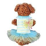 Hundekleidung Hund Katze Tutu Spitzenkleid Streifen Haustier Prinzessin Costume Apparel